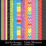 Little monsters kit papers small