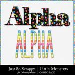 Little monsters kit alphabets small