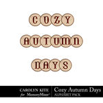 Cozy Autumn Alphabet Pack-$2.99 (Carolyn Kite)