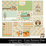 Cozy Autumn Pocket Cards Pack-$3.99 (Carolyn Kite)