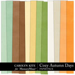 Cozy Autumn Paper Pack 3-$2.10 (Carolyn Kite)