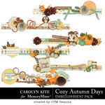 Cozy Autumn Edges Pack-$3.99 (Carolyn Kite)