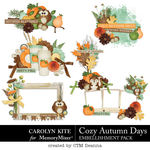 Cozy Autumn Cluster Pack-$3.99 (Carolyn Kite)