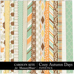 Cozy Autumn Paper Pack 2-$2.80 (Carolyn Kite)