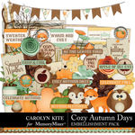 Cozy Autumn Embellishment Pack-$4.99 (Carolyn Kite)