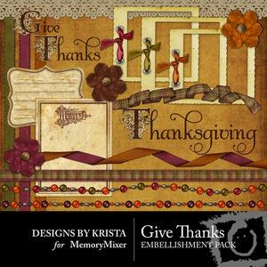 Give thanks embellish pack medium