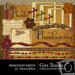 Give Thanks Embellishment Pack-$3.49 (Designs by Krista)