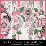 I Am A Warrior Page Borders Pack-$1.99 (Ooh La La Scraps)