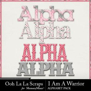 I am a warrior alphabets medium