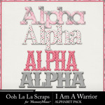 I Am A Warrior Alphabet Pack-$3.49 (Ooh La La Scraps)