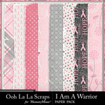 I Am A Warrior Worn Paper Pack-$1.99 (Ooh La La Scraps)