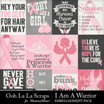 I Am A Warrior Pocket Cards Pack-$1.99 (Ooh La La Scraps)