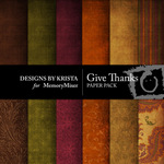 Give Thanks Paper Pack-$4.00 (Designs by Krista)