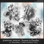 Sunsets in Paradise Brushed Art Pack-$3.49 (Jumpstart Designs)