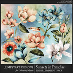 Sunsets in Paradise WC Florals Pack-$3.99 (Jumpstart Designs)