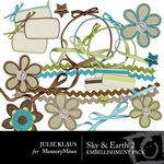 Sky and Earth Embellishment Pack 2-$3.00 (Julie Klaus)