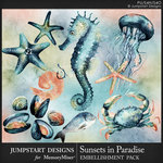 Sunsets in Paradise Sea Life Pack-$3.49 (Jumpstart Designs)