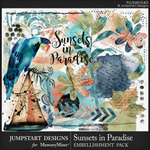 Sunsets in Paradise Embellishment Pack-$3.99 (Jumpstart Designs)