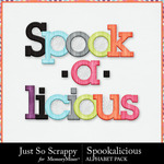 Spookalicious JSS Alphabet Pack-$2.45 (Just So Scrappy)