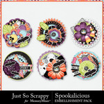 Spookalicious JSS Cluster Pack-$1.99 (Just So Scrappy)