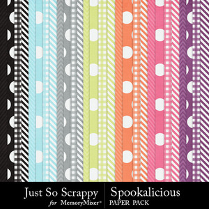 Spookalicious pattern papers medium