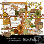 Giving Thanks Embellishment Pack-$2.99 (Julie Klaus)