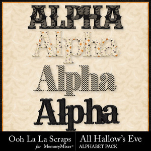 All hallows eve alphabets medium
