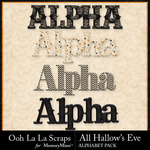 All Hallows Eve Alphabet Pack-$2.10 (Ooh La La Scraps)