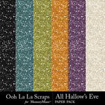 All Hallows Eve Glitter Paper Pack-$1.99 (Ooh La La Scraps)