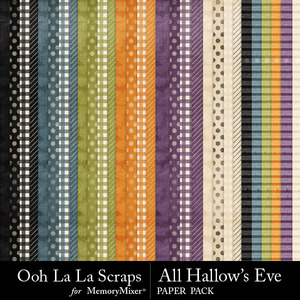 All hallows eve pattern papers medium