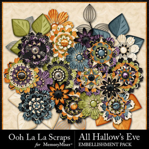 All hallows eve layered flowers medium