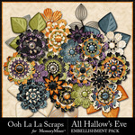 All Hallows Eve Flowers Pack-$1.99 (Ooh La La Scraps)