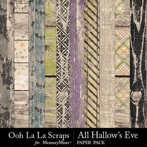 All hallows eve wood papers medium