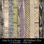 All Hallows Eve Worn Wood Papers-$1.99 (Ooh La La Scraps)