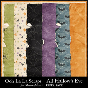All hallows eve worn and torn papers medium