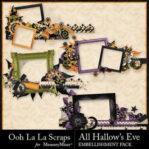 All hallows eve border frames medium