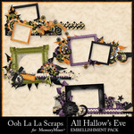 All Hallows Eve Frame Pack-$1.99 (Ooh La La Scraps)