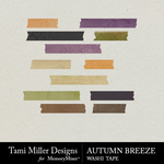 Autumn Breeze TM Washi Tape Pack-$2.99 (Tami Miller)