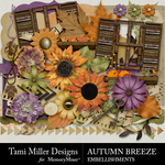Autumn breeze embellishments small