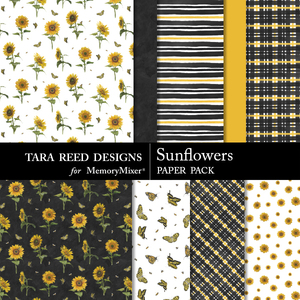Sunflowers paperpack preview medium