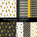 Sunflowers Paper Pack-$3.99 (Tara Reed Designs)