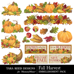 Fall Harvest TR Embellishment Pack-$3.99 (Tara Reed Designs)