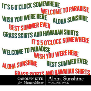 Alohasunshine wordart medium
