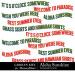 Aloha Sunshine WordArt Pack-$2.99 (Carolyn Kite)