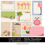 Aloha Sunshine Journal Cards Pack-$3.99 (Carolyn Kite)
