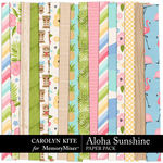 Aloha Sunshine Pattern Paper Pack-$3.99 (Carolyn Kite)