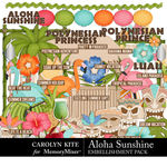 Aloha Sunshine Embellishment Pack-$4.99 (Carolyn Kite)