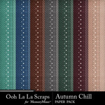 Autumn Chill Pattern Paper Pack-$1.99 (Ooh La La Scraps)