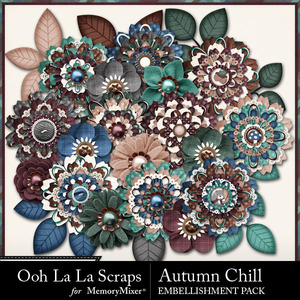 Autumn chill layered flowers medium