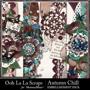 Autumn chill page borders medium